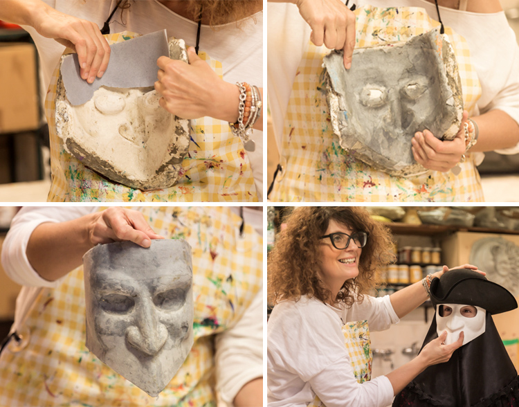 Venetian mask making process