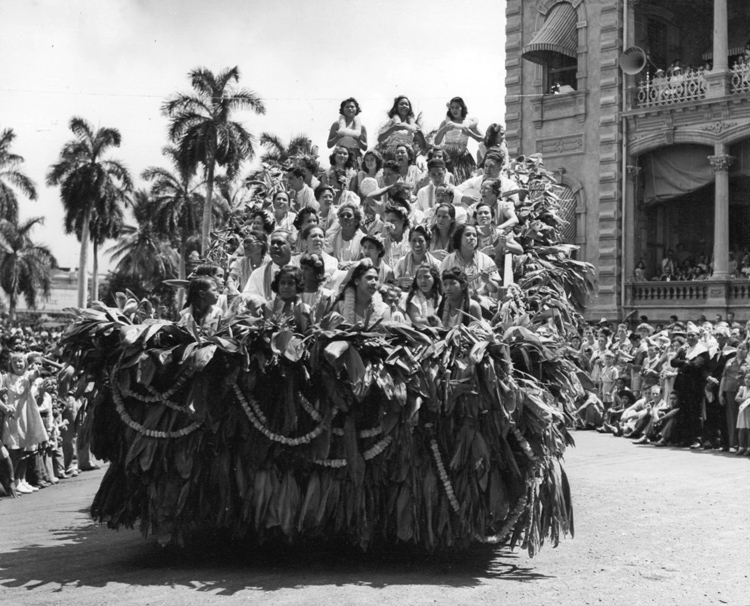 Kamehameha Day Oahu parade circa 1935