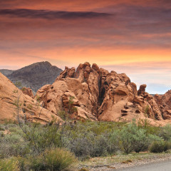 valley of fire at sunset