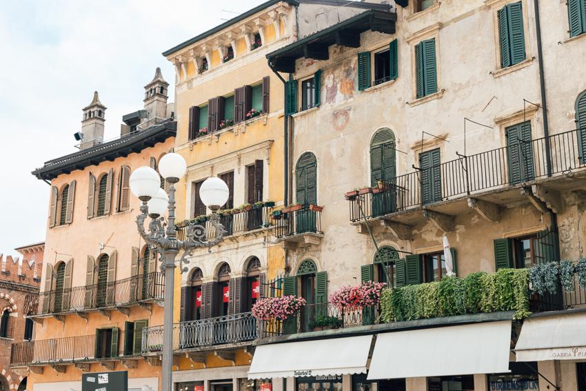 Piazza delle Erbe of Verona Italy