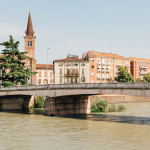 Adige River of Verona Italy